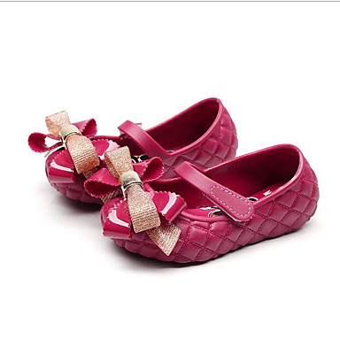 baratos Sapatos de Criança-Para Meninas PVC Rasos Criança (9m-4ys) / Little Kids (4-7 anos) Conforto Laço Preto / Vermelho / Amêndoa Primavera Verão
