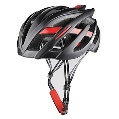 abordables Casques de Cyclisme-PMT Adulte Casque de vélo 26 Aération CE Résistant aux impacts Intégralement moulé Ventilation EPS PC Des sports Vélo de Route Vélo tout terrain / VTT Activités Extérieures - Noir Noir / Rouge Noir