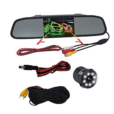 billige Bil Elektronikk-BYNCG WG4.3 4.3 tommers TFT-LCD 480TVL 480 TV-Lines 1/4 tommers CMOS OV7950 Med ledning 120 grader 1 pcs 120 ° 4.3 tommers Bakside Kamera / Bilomvendende skjerm / Hodet opp skjerm Nattsyn til Bil