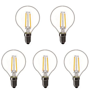 billige Elpærer-5pcs 1.5 W LED-globepærer LED-glødepærer 200 lm E14 E26 / E27 G45 2 LED perler Høyeffekts-LED Dekorativ Varm hvit 220-240 V 220 V 230 V