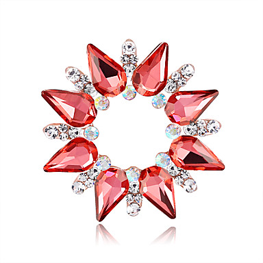 e63e4bfeae Women s Brooches Creative Flower European Fashion Brooch Jewelry Silver Red  Assorted Color For Wedding Gift Daily