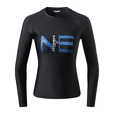 SABOLAY Women's Diving Rash Guard Breathable Ultra Light (UL) Chinlon Elastane Long Sleeve Swimwear Beach Wear Sun Shirt Solid Colored Swimming Snorkeling / Micro-elastic