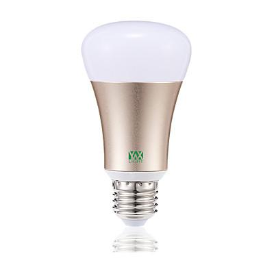billige Elpærer-YWXLIGHT® 1pc 7 W LED-globepærer 600-700 lm E26 / E27 20 LED perler SMD 5730 APP-kontroll Smart Mulighet for demping RGB RGBWW 85-265 V