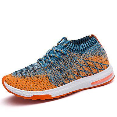בגדי ריקוד גברים אור סוליות רשת קיץ ספורטיבי / יום יומי נעלי אתלטיקה ריצה / הליכה נושם כתום / אפור