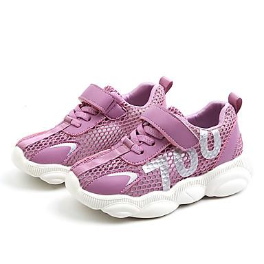 voordelige Babyschoenentjes-Jongens / Meisjes Comfortabel Netstof / PU Sneakers Peuter (9m-4ys) / Little Kids (4-7ys) / Big Kids (7jaar +) Wit / Zwart / Paars Zomer / Rubber