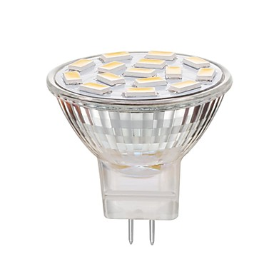 1kpl 3 W LED-kohdevalaisimet 240 lm MR11 15 LED-helmet SMD 5730 Himmennettävissä Koristeltu Lämmin valkoinen Kylmä valkoinen 12-24 V