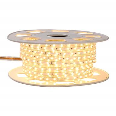 billige LED Strip Lamper-kwb 4m skinne dekor led stripe lys 220vflexible vanntett tau lys 5050 240leds for innendørs utendørs ambient kommersiell belysning dekorasjon