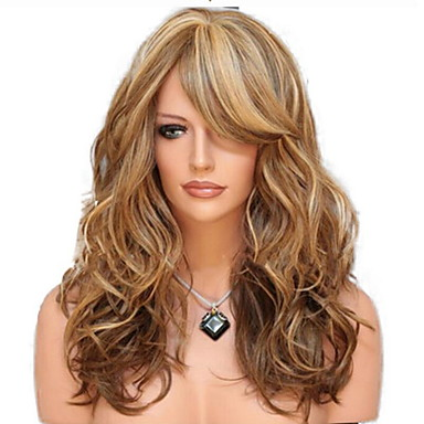 f16e8fd7dfd cheap Synthetic Wigs-Synthetic Wig Curly Style With Bangs Machine Made Wig  Golden Black /