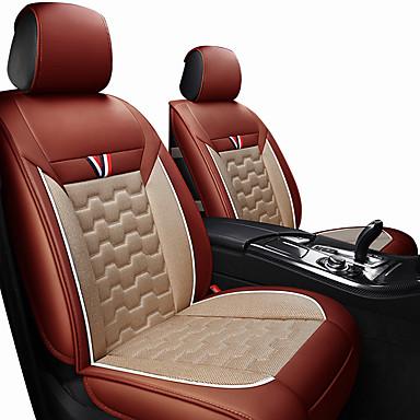 voordelige Auto-interieur accessoires-autostoel kussens stoelhoezen zwart / rood / oranje / zwart polyesterweefsel / leer algemeen / bedrijf voor universele alle jaren