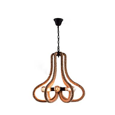 Fornito 6-light Industriale Lampadari Luce Ambientale Finiture Verniciate Metallo Creativo 110-120v - 220-240v #07302544