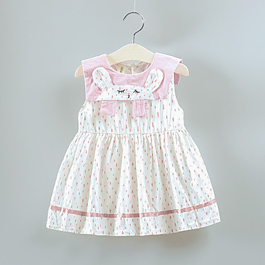 7ca7d2b4c cheap Baby Girls' Dresses-Baby Girls' Basic Geometric Patchwork