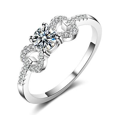 billige Motering-Dame Ring / Forlovelsesring / Micro Pave Ring 1pc Sølv Edelsten og krystall / Kobber Stilfull Daglig Kostyme smykker