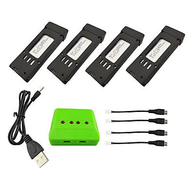 billige Deler og tilbehør til radiostyrte enheter-E58 JY019 GD88 L800 S168 3,7 V 850mAh 1set batteri