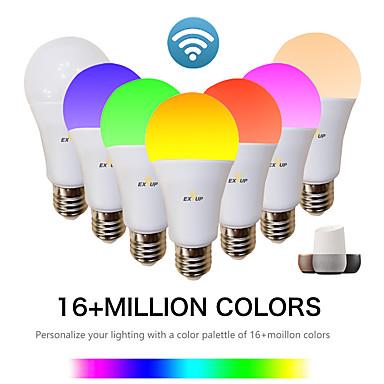 abordables Ampoules électriques-EXUP® 1pc 9 W Ampoules LED Intelligentes 810 lm E26 / E27 A60(A19) 34 Perles LED SMD 2835 Contrôle de l'APP Elégant Chronométrage RVB et CW 85-265 V