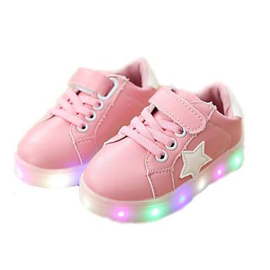 voordelige Babyschoenentjes-Meisjes Oplichtende schoenen PU Sneakers Peuter (9m-4ys) / Little Kids (4-7ys) Zwart / Groen / Roze Lente / Herfst / Rubber