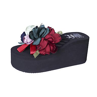voordelige Damespantoffels & slippers-Dames Synthetisch Zomer Slippers & Flip-Flops Creepers Rood / Blauw / Roze