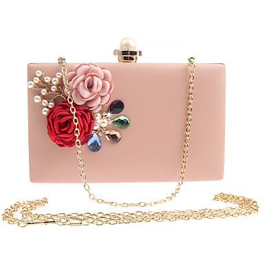 22f9b4bbee Γυναικεία Τσάντες PU Βραδινή τσάντα Φλοράλ Λευκό   Ανθισμένο Ροζ