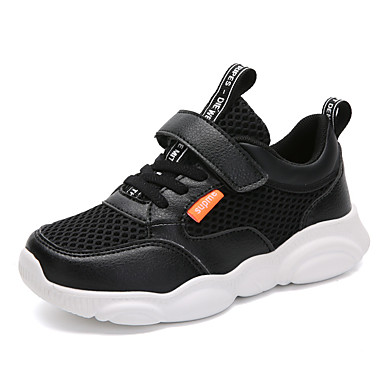 voordelige Babyschoenentjes-Jongens / Meisjes Comfortabel Netstof / PU Sneakers Peuter (9m-4ys) / Little Kids (4-7ys) / Big Kids (7jaar +) Wit / Zwart Lente / Herfst / Feesten & Uitgaan / Rubber