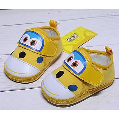 voordelige Babyschoenentjes-Meisjes Comfortabel / Eerste schoentjes Katoen Platte schoenen Zuigelingen (0-9m) Rood / Blauw / Roze Lente