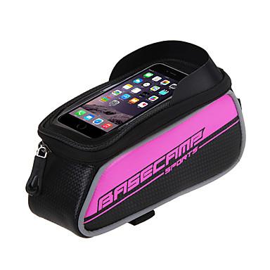 abordables Sacoches de Vélo-Sac de téléphone portable Sac Cadre Velo 5 pouce Cyclisme pour Argent Rouge Bordeaux-Rouge Cyclotourisme