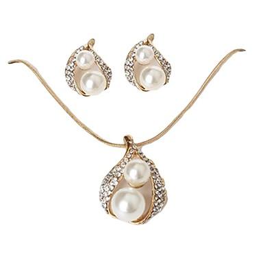 16311930a010 abordables Accesorios para Fiestas-Mujer Conjunto de joyas Perla Artificial  Gotas de Ojos Moda