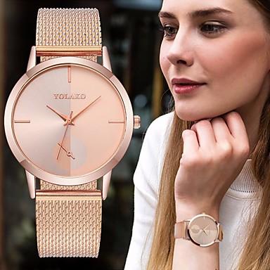 baratos Relógios Homem-Casal Relógio Elegante Quartzo Aço Inoxidável Preta / Prata / Dourada Relógio Casual Analógico Fashion - Prata Dourado Ouro Rose Um ano Ciclo de Vida da Bateria