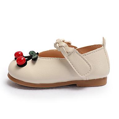voordelige Babyschoenentjes-Meisjes Comfortabel Microvezel Platte schoenen Peuter (9m-4ys) / Little Kids (4-7ys) Bloem Beige / Roze Zomer / Feesten & Uitgaan / TPR (Thermoplastisch Rubber)