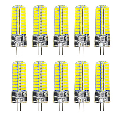 abordables Ampoules électriques-YWXLIGHT® 10pcs 5 W LED à Double Broches 500 lm G4 T 72 Perles LED SMD 5730 Décorative Blanc Chaud Blanc Froid 12-24 V