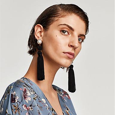 voordelige Oorbellen-Dames Veelkleurig Gevlochten Druppel oorbellen oorbellen Patroon Vintage Europees Sieraden Rood / Groen / Blauw Voor Dagelijks 1 paar