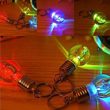 cheap Décor Lights-Creative Gift Light Lighting Bulb Night Colorful LED Flashlight Torch Keyring Keychain