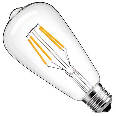 billige Elpærer-1pc 4 W LED-glødepærer 360 lm E26 / E27 ST64 4 LED perler COB Dekorativ Varm hvit Kjølig hvit 220-240 V