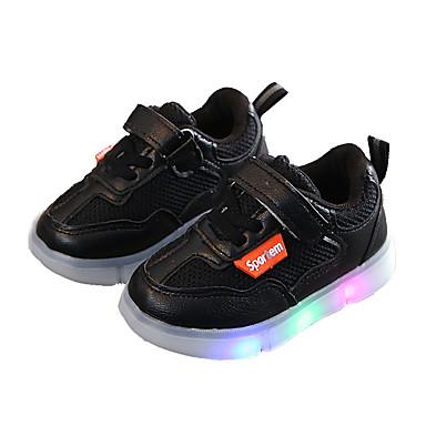 voordelige Babyschoenentjes-Meisjes Oplichtende schoenen Netstof Sportschoenen Peuter (9m-4ys) / Little Kids (4-7ys) Hardlopen / Wandelen Zwart / Beige / Roze Zomer / Rubber