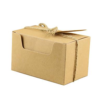 abordables Support de Cadeaux pour Invités-Rectangulaire Papier Kraft Titulaire de Faveur avec Corde de resserrement Articles ménagers divers / Décoration de maison / Bocaux à Bonbons et Bouteilles - 50 pièces