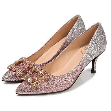 00d4c977c8 Mujer Sintéticos Otoño / Primavera verano Dulce / Minimalismo Zapatos de  boda Tacón Stiletto Dedo Puntiagudo Pedrería Rojo / Azul Claro / Rosa claro  / Boda ...