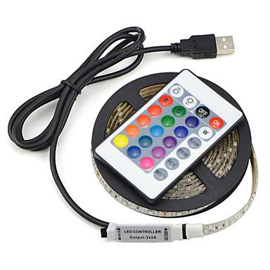 abordables Bandes Lumineuses LED-1set usb led lampe de bande 2835smd dc5v flexible led ruban de lumière ruban 2m hdtv tv écran de bureau arrière-plan éclairage indirect