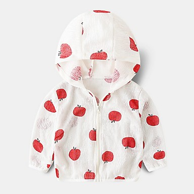 baratos Jaquetas & Casacos para Meninos-Infantil Para Meninos Básico Fruta Algodão Terno & Blazer Branco