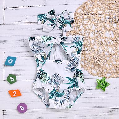 c38ef9c1b رخيصةأون ملابس الرضع-قطع واحدة قطن بدون كم طباعة طباعة أساسي للفتيات طفل /  طفل