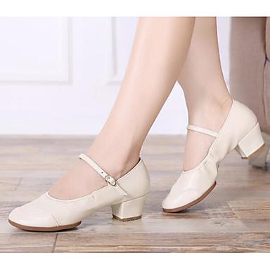 94c5d00efd25 Mujer Zapatos de Baile Moderno Cuero Sintético Tacones Alto Talón grueso  Zapatos de baile Plata / Beige / Melocotón