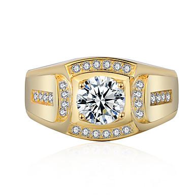 levne Prsteny-Dámské Modrá Zelená Růžová Kubický zirkon Ozdobný Prsten Kytky Moderní Elegantní Fashion Ring Šperky Zlatá / Stříbrná Pro Svatební