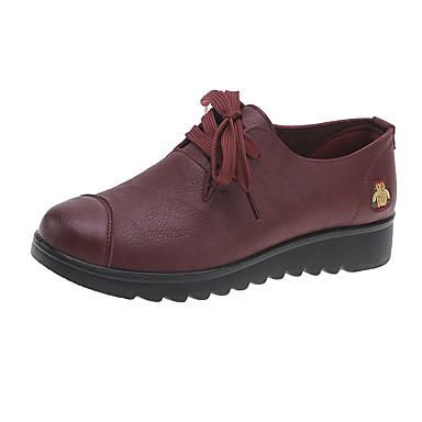 Amichevole Per Donna Pu (poliuretano) Primavera & Autunno Sneakers Piatto Nero - Marrone - Borgogna #07332512