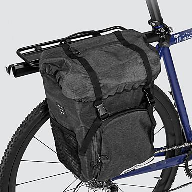 abordables Sacoches de Vélo-ROSWHEEL 15 L Sacoche Double Velo / Sac de Porte-Bagage Grande Capacité Etanche Durable Sac de Vélo Tissu 300D Polyester Sac de Cyclisme Sacoche de Vélo Cyclisme Vélo de Route Vélo tout terrain / VTT