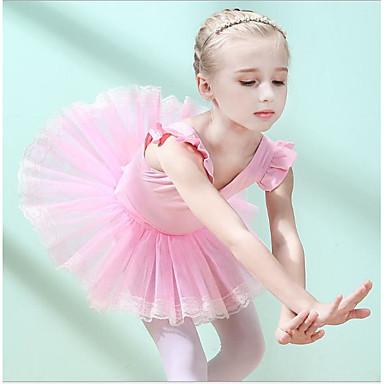 0fea71108c Gyermek táncruhák / Balett Ruhák Lány Edzés / Teljesítmény Pamut Kombinált  Ujjatlan Természetes Ruha