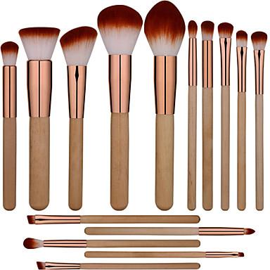 Discreto Professionale Pennelli Per Il Trucco 15pcs Coppa Larga Comodo Pennello Di Fibre Artificiali Legno - Bambù Per Pennello Da Trucco #07336401