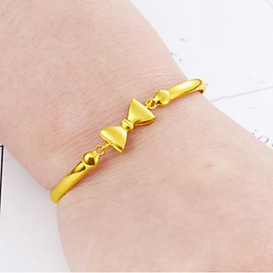 abordables Bracelet-Bracelet Femme 3D Nœud Elégant simple Bracelet Bijoux Dorée pour Quotidien