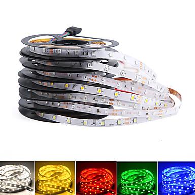 billige LED Strip Lamper-loende 2pack ikke vanntett 300leds / 5m smd 3528 rgb led stripe lys fleksibel diode tape dc12v ledet bånd 60led / m led stripe for hjemmedekorasjon