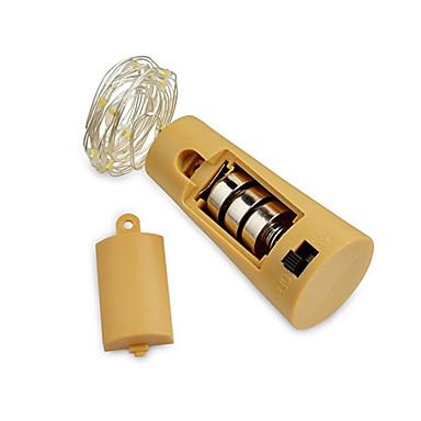 2m Fâșii de Iluminat 20 LED-uri SMD 0603 Alb Cald / Alb / Albastru Rezistent la apă / Decorativ / Nuntă Baterii alimentate 1 buc