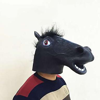 voordelige Maskers voor de feestdagen-Halloweenmaskers Dierenmasker Liima Paard Horrorthema Volwassenen Unisex