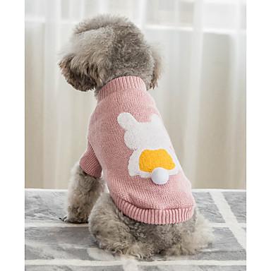 Psi Mačke Puloveri Odjeća za psa Jednobojni Plava Pink Pamuk Kostim Za Zima Uniseks Ugrijati Za opuštanje
