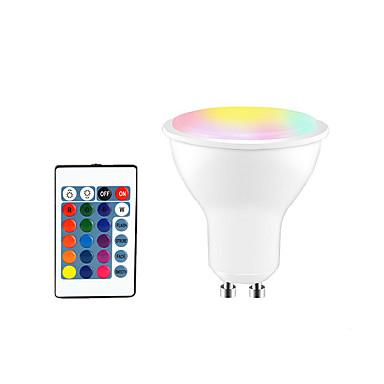 abordables Ampoules électriques-1pc 5 W Ampoules LED Intelligentes 350 lm GU10 E26 / E27 3 Perles LED SMD 5050 Elégant Intensité Réglable Soirée RGBW 85-265 V