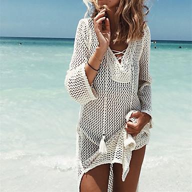 בגדי ריקוד נשים בגד ים מכסים אלסטיין בגדי ים הגנה מפני השמש UV ייבוש מהיר שרוולים קצרים שחייה גלישה ספורט מים טלאים סתיו אביב קיץ
